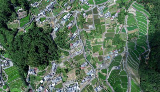 [ドローン空撮]360度パノラマ写真(三重県棚田)265Mpixcel